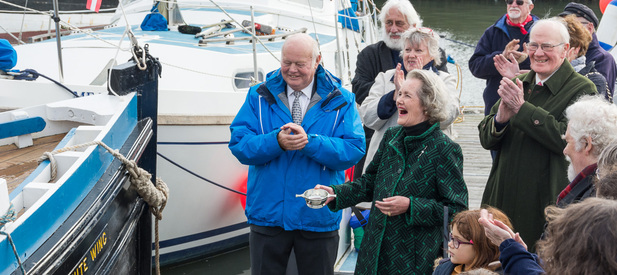 Re-dedication of museum boat White Wing