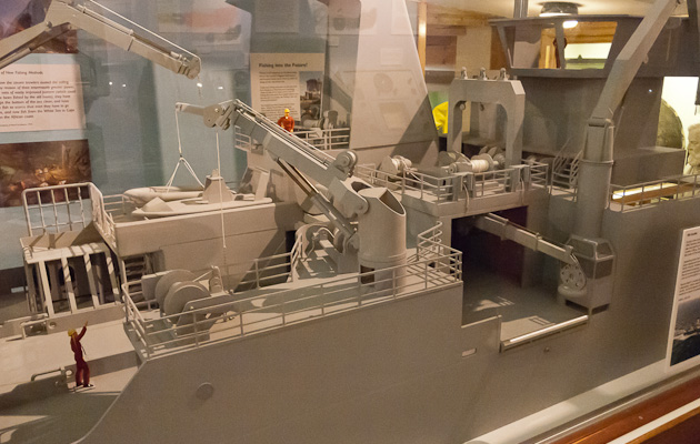 Designer's model of fisheries research vessel Scotia