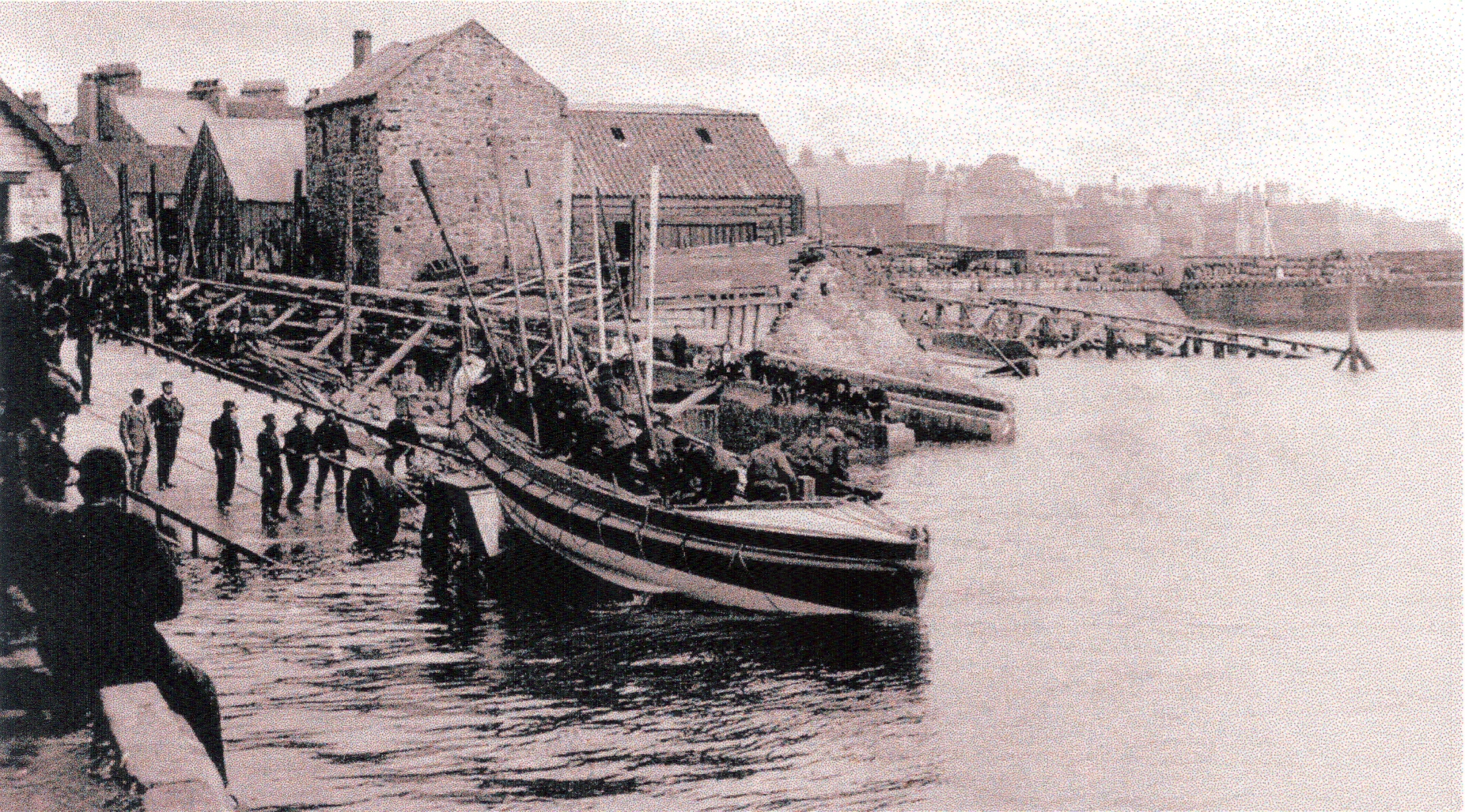 Launch of Lifeboat in Anstruther