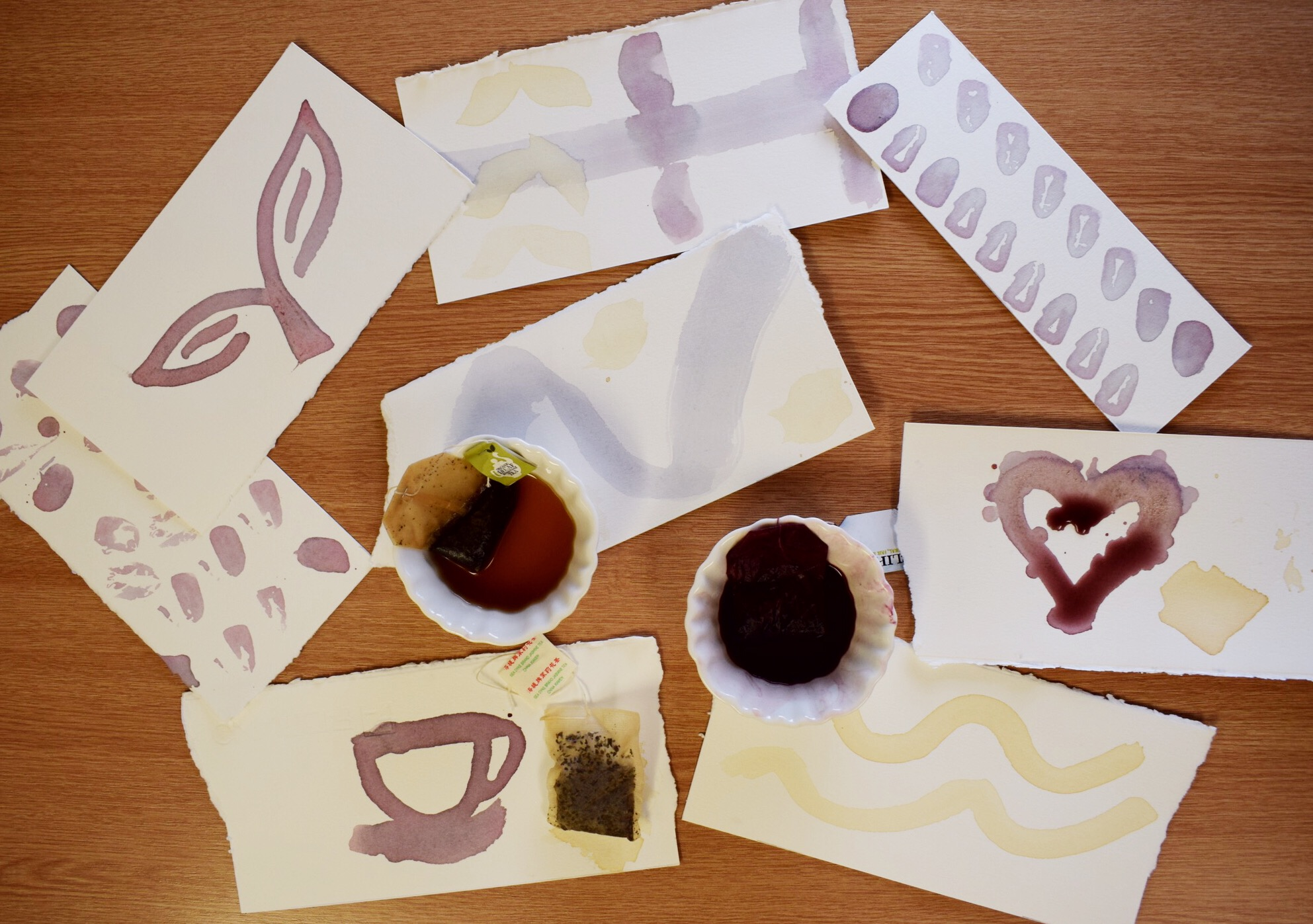 Painting with Tea Bags